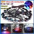 Original 32W Wired Control High-Power Super Bright Car Strobe Flash Led Warning Light  Working Light DRL Strobe Police Fireman