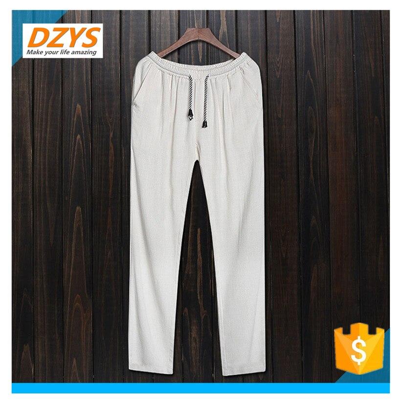 DZYS-JF китайский стиль хлопок мужская китайский стиль брюки льняные Штаны Большие размеры Штаны сезон весна-лето Свободные повседневные Пан ...