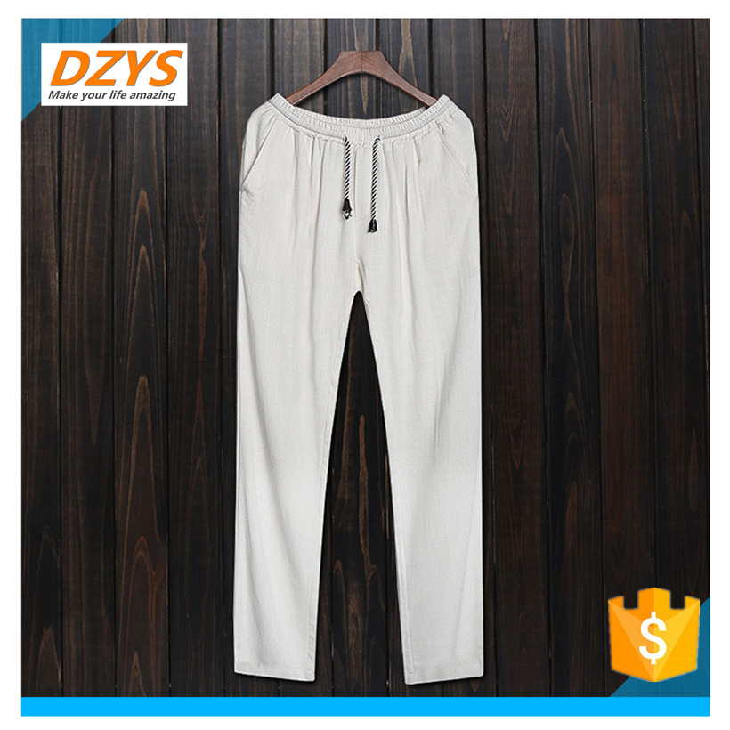 DZYS-JF Chinese style cotton mens Chinese style trousers linen pants large size pants spring and summer loose casual pan