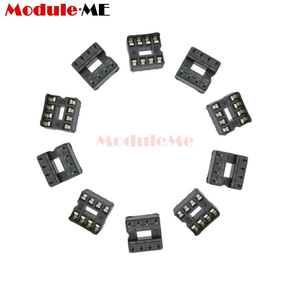 50pcs 8pin 8 pin dip 8 8dip 8 dip ic sockets adaptor solder type 2 54mm