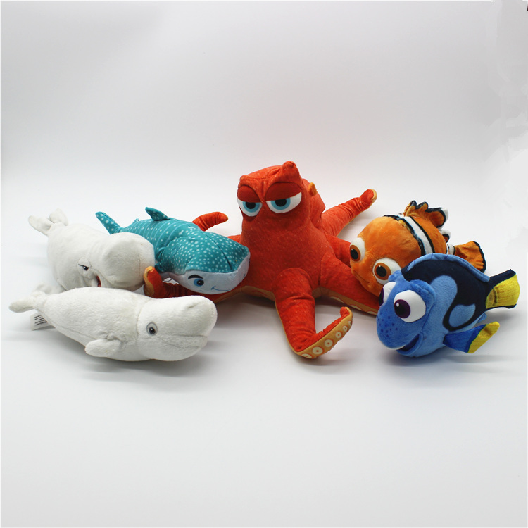 1 Piece  Finding Dory Plush Toys Nemo Octopus Hank Beluga Bailey Doll For Kids Gifts&birthday