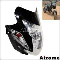 Farol universal para motocicleta  farol para motocicleta off road  zxr  gsf  com carenagem