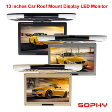 "13"" LED Digital Screen Monitor Roof Mount Monitor Car Color Monitor 12V with Dual video Input AV for Car Bus"