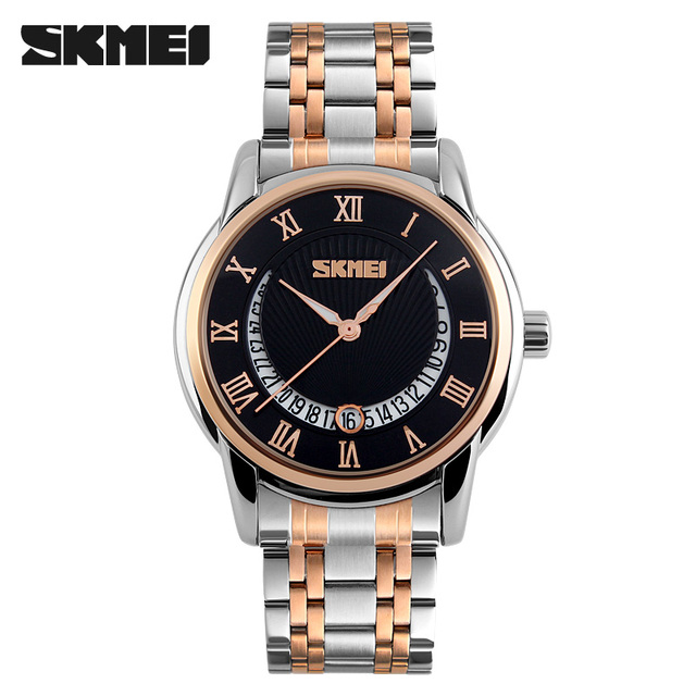 2017 Brand New SKMEI Luxury Brand Men Business Watches Full Steel Quartz Watch Dive 30m Fashion Sport Watch relogio masculino