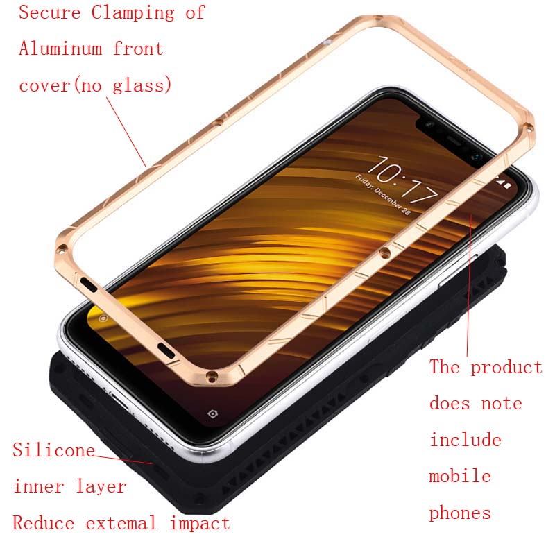 Aluminum Metal Tempered Glass Screen Silicone Protector For Xiaomi Redmi K20 Cover Heavy Duty Protection For Oneplus 7pro KS0251 in Half wrapped Cases from Cellphones Telecommunications