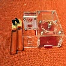 Tubes en verre de luxe, 2 pièces, Nid de fourmis en acrylique, cage à insectes pour étudiants, dispositif de classe biologique