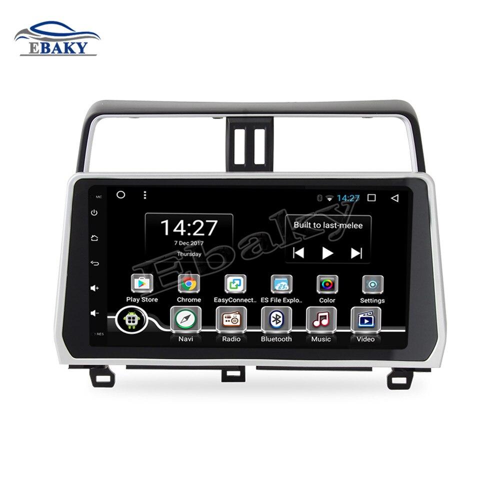 NaviTopia 10.2 pouces 1 gb/2 gb RAM Quad Core/Octa base Android 7.1/8.1 Voiture DVD radio pour Toyota Prado Nouveau 2018 2019 GPS/WIFI/Cartes