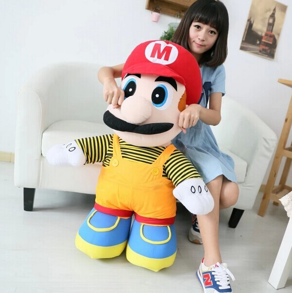 Big Lovely Plush Toy Super Mario Elder Brother Red Doll Birthday Gift About 75cm