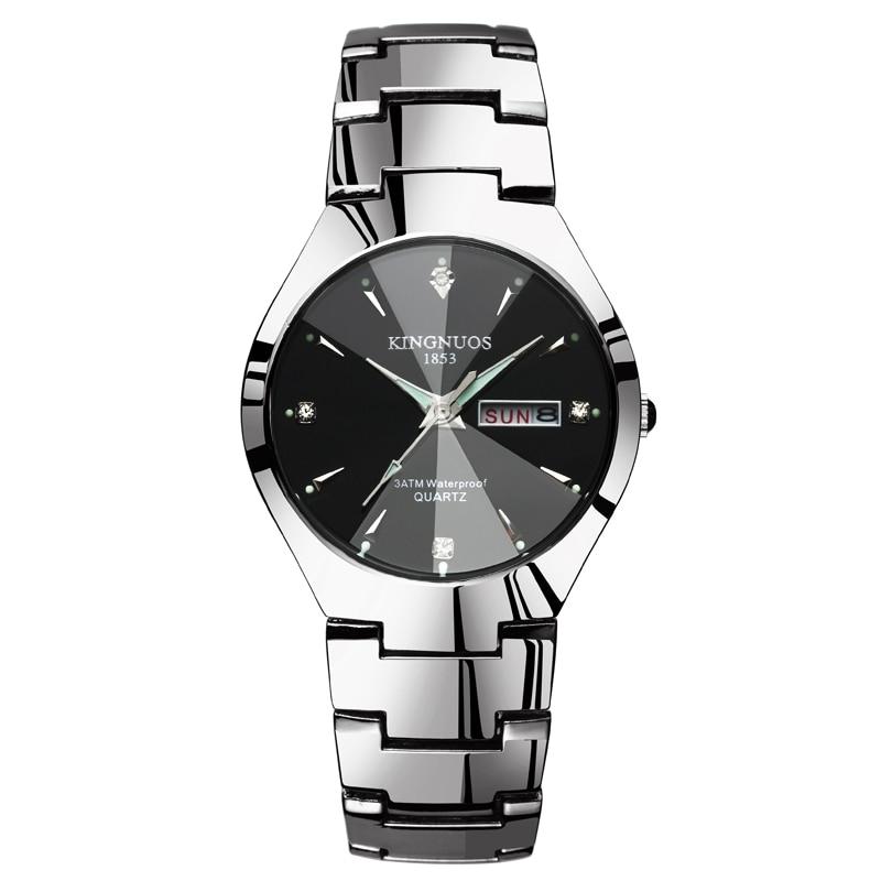 Fashion Casual Lover Watch Waterproof Tungsten Steel 2018 Men Women Couples Lovers Watches Set Wristwatches Relogio Feminino