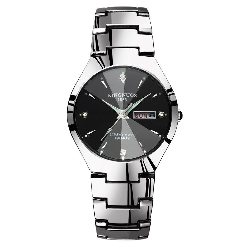 Fashion Casual Lover Watch Waterproof Tungsten Steel 2020 Men Women Couples Lovers Watches Set Wristwatches Relogio Feminino