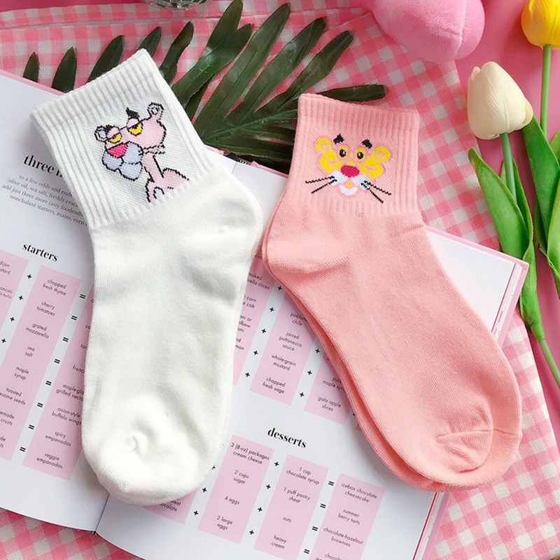 Unisex Cute The Pink Panther Tube Socks Knee High Sports