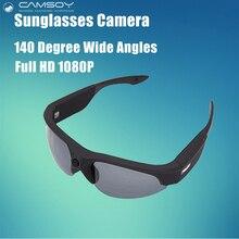 Full HD 1080 P Очки Камера Легкий Вес UV400 Защиты Мини Камеры 140 Градусов Широкий Угол Камера Солнцезащитные Очки Действий Камеры