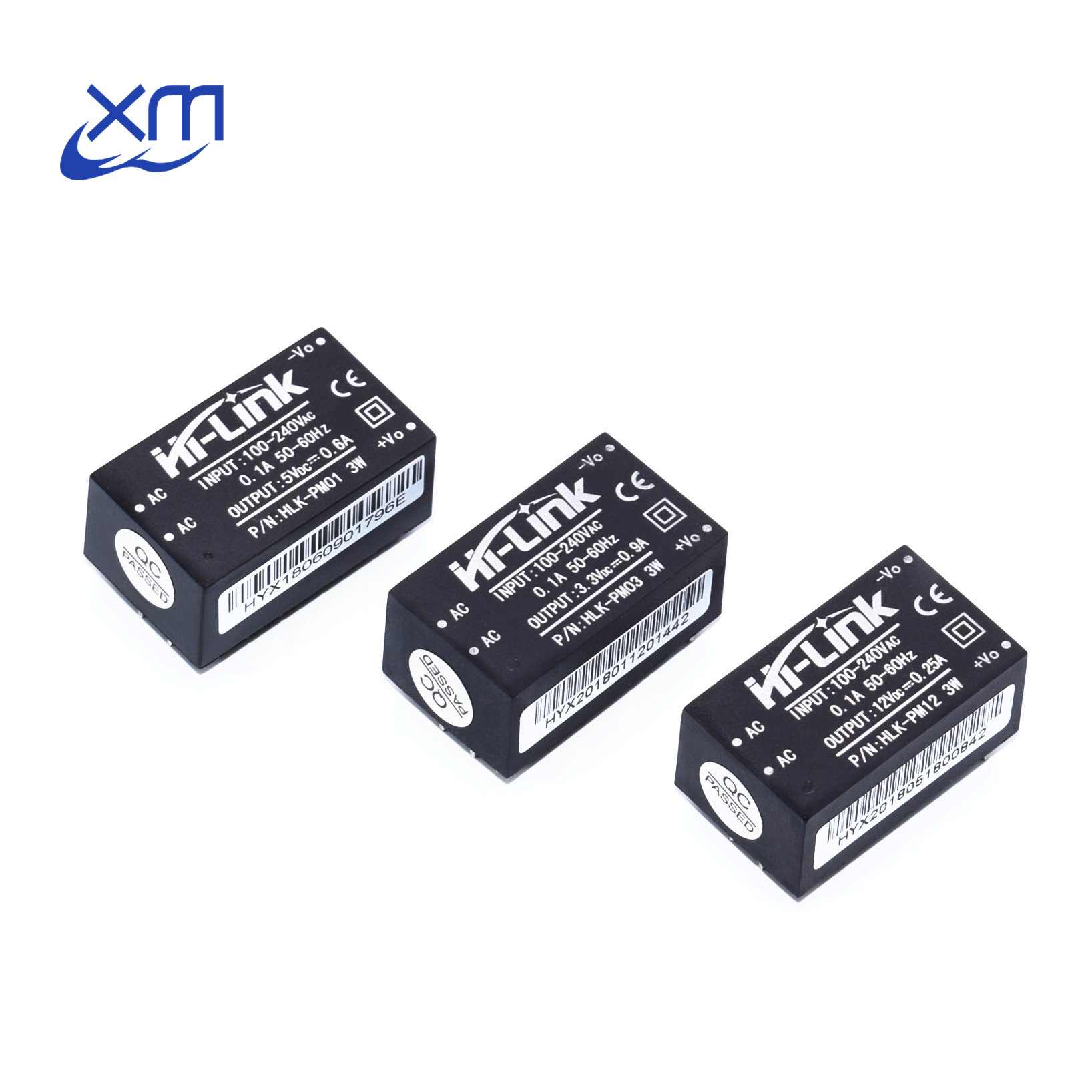HLK-PM01 HLK-PM03 HLK-PM12 <font><b>AC</b></font>-<font><b>DC</b></font> 220V to 5V/<font><b>3.3V</b></font>/12V mini <font><b>power</b></font> <font><b>supply</b></font> <font><b>module</b></font>,intelligent household switch <font><b>power</b></font> <font><b>module</b></font> UL/CE image