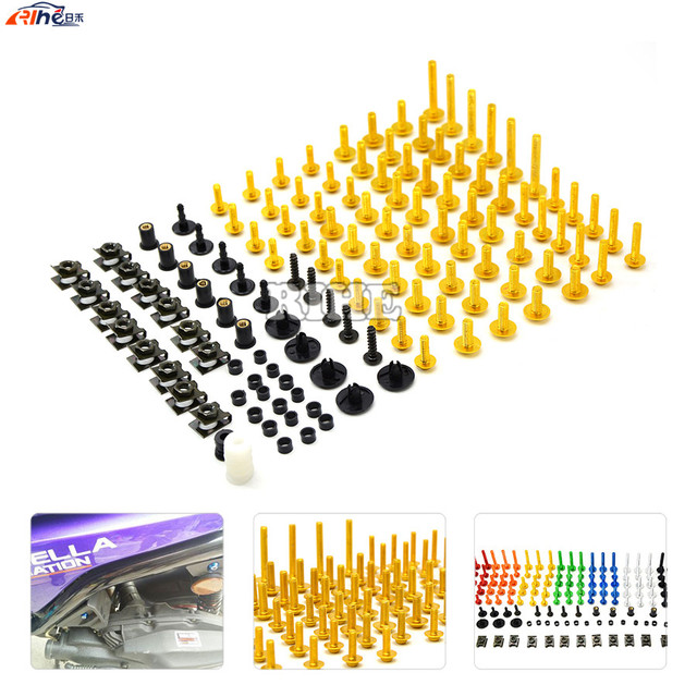 universal Motorcycle CNC Fairing body work Bolts Screws for yamaha fz6 r6 fz1 r1 ybr 125 r25 xj6 xjr 1300 fz8 T-MAX500 T-MAX530
