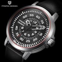 Pagani Дизайн Для мужчин S Часы Топ Роскошные Водонепроницаемый кожа кварцевые часы Для мужчин Уникальный Дизайн полые Календари Мужские часы