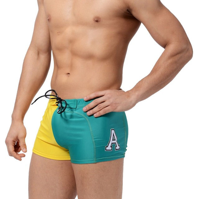5b3ce74903006 AUSTINBEM Swimwear Men Swimsuits Swim Boxer Trunks Shorts Men's Surf Board  Shorts Gay swimming surfing beach short briefs pants. Price: