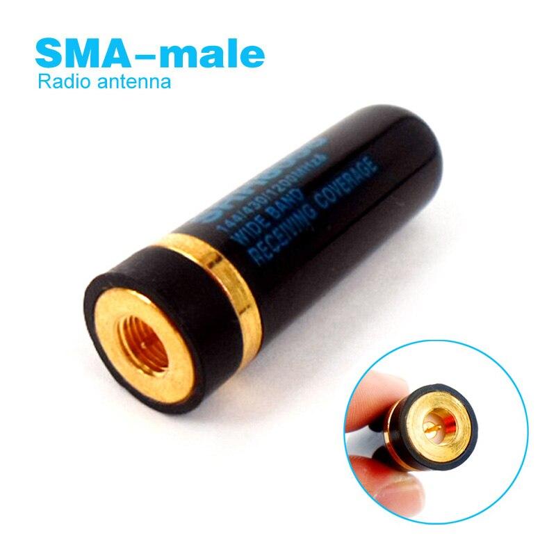 SRH805S SMA Male Antenna For YAESU VX-3R VX-6R VX-7R BAOFENG BF-UV3R TYT TH-UVF9 PUXING Walkie Talkie SMA-M UHF VHF Dual Band
