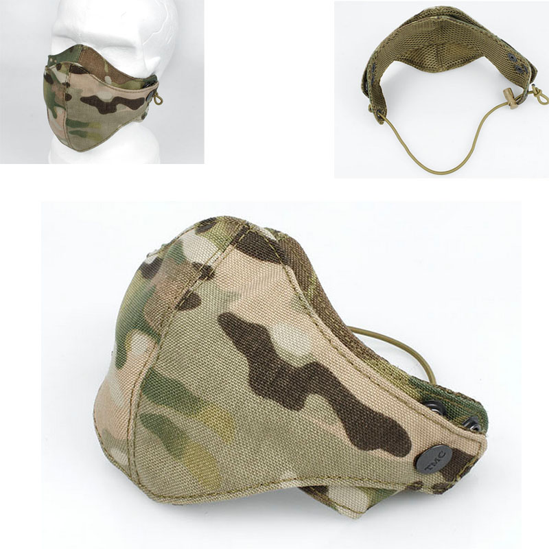 2017 Multicam  Military Cordura Half Face CP Camouflage Mask Ripstop Tactical MC Mask Protective Half Mask