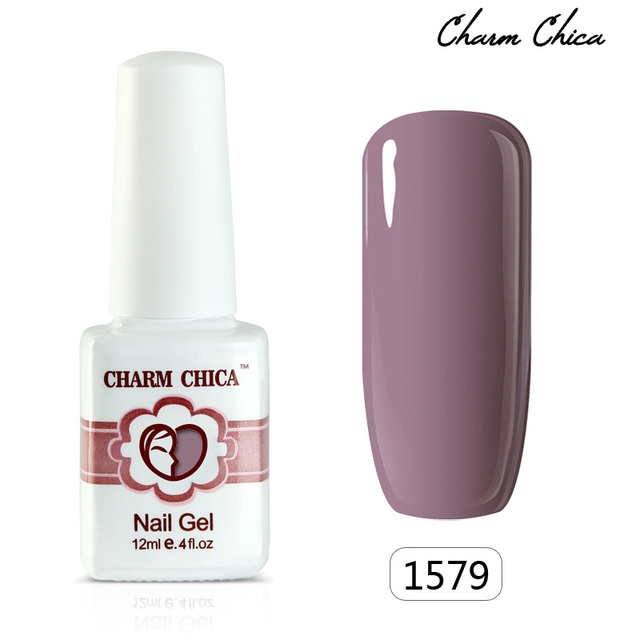 CHARM CHICA Soak Off Nail Gel Polish 155 Colors Red Pink Black Army ...