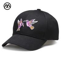 Embroidery Baseball Cap Brand Casquette Bird Animal Snapback Hat For Women Men Couples Cap 2017 Style