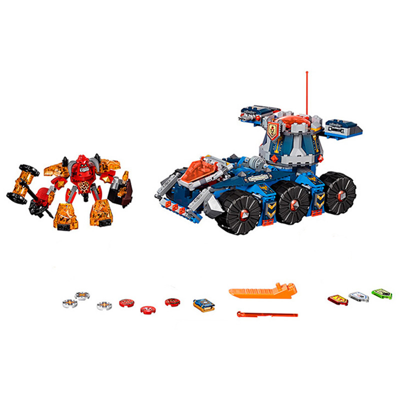 10520 General Magmar's Siege Machine of Doom Building Blocks Bricks Toys for children Game Car Weapon Compatible With Lepin lepin nexo knights axl general magmars siege machine of doom model building blocks diy figure toys for children compatible legoe