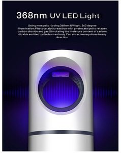 Светодиодный светильник-ловушка от комаров с USB, 2019, УФ-светильник против комаров и мух, защита от комаров