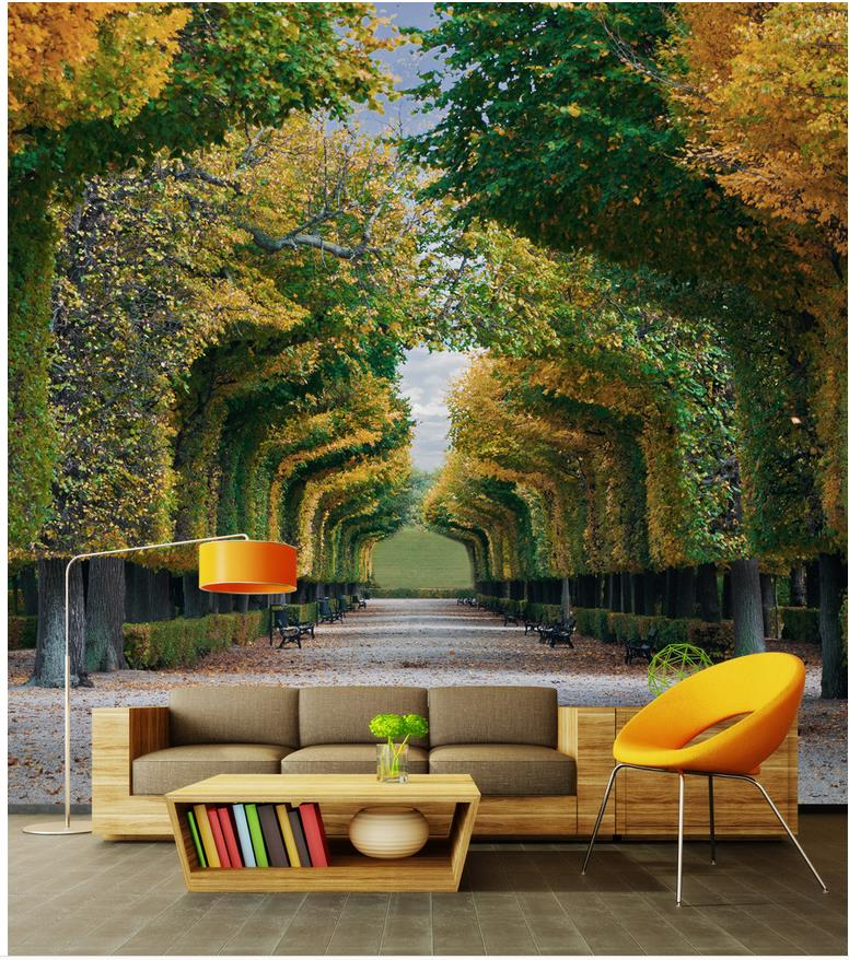 Home decoration wall mural photo wallpaper forest photo for Wallpaper for home wall decoration