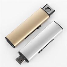 Striscia di Trasporto libero USB Lighter Ricaricabile Accendino Elettronico Sigaretta Metallo Leggero Senza Fiamma Double Side Cigar Plasma