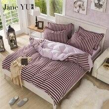Janeyu полосатый комплект постельных принадлежностей Твин/Полный/Queen/King Size постельное белье домашний текстиль постельное белье реактивной печатных 4 шт. пододеяльник устанавливает
