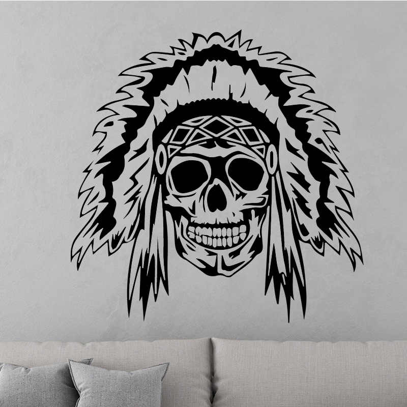 Creative Skull Design Wall Sticker For Living Room Removable
