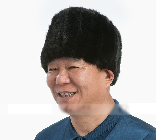 Мужской зима теплая меховая шапка высокое качество норки полный волосы шляпа 100% реальные меха