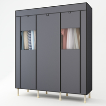 25MM Steel Pipe Wardrobe Bold Reinforcement Double Assembly Closet Organizer Simple Cloth Fabric Wardrobe Storage