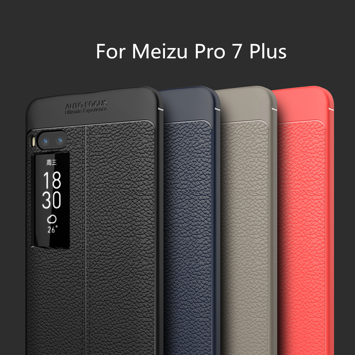 HATOLY For Capa Meizu Pro 7 Plus Case Soft Litchi TPU Rugged Case For Meizu Pro 7 Plus Cover For Meizu Pro7 Plus Fundas 5.7