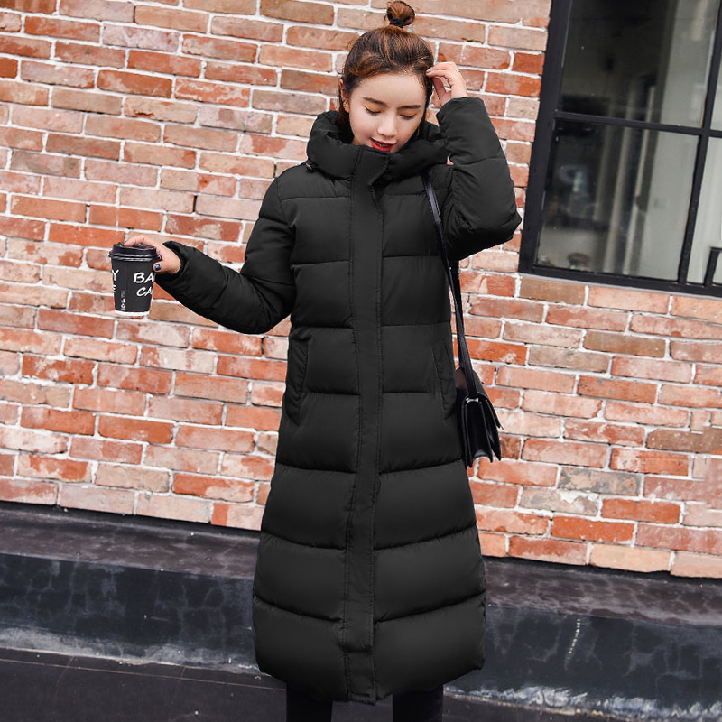 High Quality 2019 Warm Thicken Women's Winter Jackets Hooded X-Long Female Women Jacket Winter Slim Coat   Parka   Cotton Padded