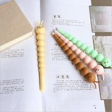 1X kawaii caterpillar shaped gel pen 0.5 cute Neutral stationery canetas material escolar office school supplies papelaria