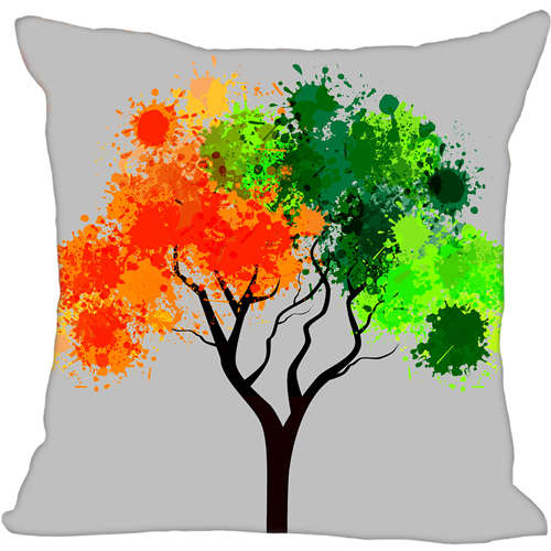one Side Custom Pillowcase Cover Tree Life Zipper Pillow Cover Print Your Pictures 20x20cm,35x35cm 171203#09-09