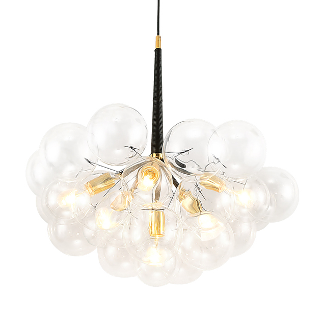 American Pelle Bubbles Glass E27 Led Chandelier Lamparas Fixtures Post Modern Minimalism Re Pendant Lighting