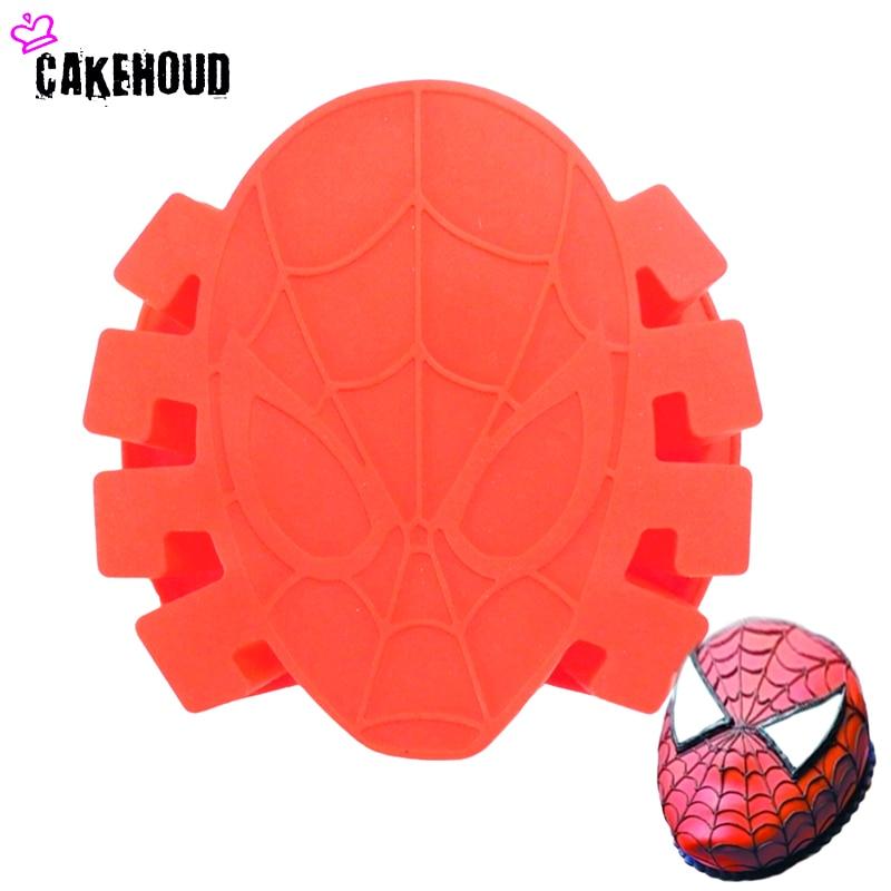 CAKEHOUD NUEVO 1 Pc Familia Hornear Diseño Spiderman Cake Molde DIY Fondant Cake, Chocolate, Dulces, Jabón, Cera-como el molde, herramientas de la torta