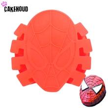 1 Pc Family Baking Design Spiderman Cake Mold DIY Fondant Cake,Chocolate,Candy,Soap,Wax-like Mold,Kitchen Tools Free Shipping