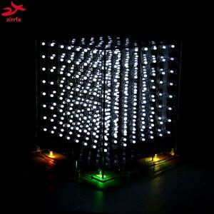 Image 3 - Gorąca sprzedaż 3D 8S 8x8x8 mini led światło elektroniczne cubeeds diy zestaw na prezent na boże narodzenie/noworoczny prezent