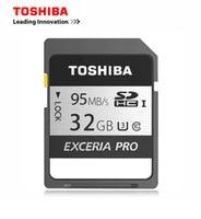Toshiba 16GB 32GB 64GB SDXC 95mb S Memory EXCERIA PRO SD U3 SDHC N401 Card UHS