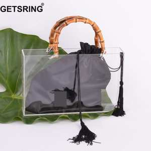 GETSRING Women Bamboo Handle Handbag Totes Acrylic Bags Big 74ba278a5b69d