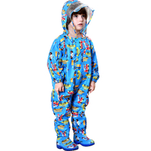 Children cartoon raincoat kids jumpsuit rainwear raincover for children baby boy girl waterproof poncho raincoats
