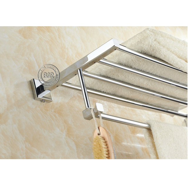Free Shipping Bakala Fashionable Towel Rack Bathroom Accessories Bar Chrome Br 87001