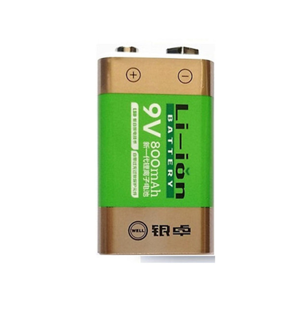 Cncool Hot-selling 800mAh Li-ion 9 V Rechargeable Batteries For Smoke detectors Wireless Microphones