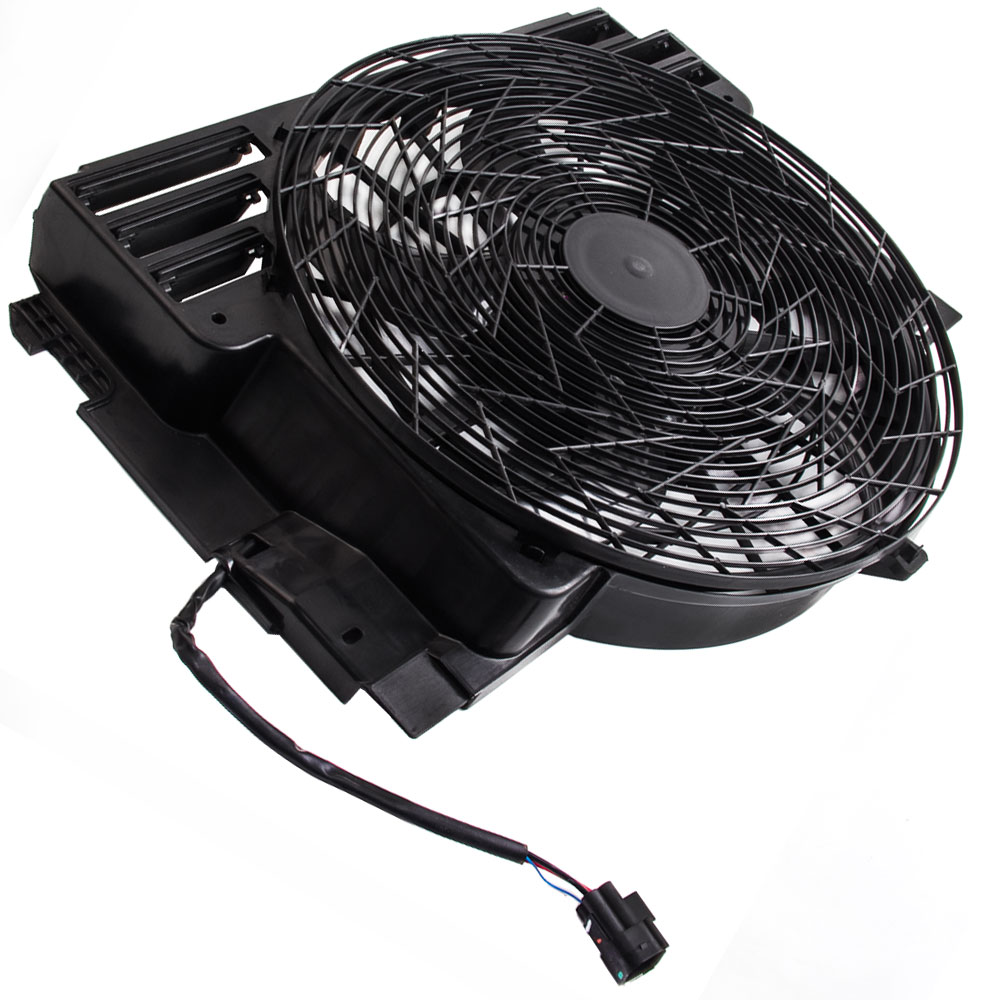 A/C AC Condenser Thermo Cooling Fan for BMW E53 X5 00-06 5 Blades 64546921940 64546921381 Cooling Fan AssemblyA/C AC Condenser Thermo Cooling Fan for BMW E53 X5 00-06 5 Blades 64546921940 64546921381 Cooling Fan Assembly