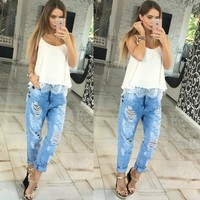 Summer Women Blouses Fashion Lace Patchwork Loose Tops Sexy Off Shoulder Low Cut Sleeveless Slip Women
