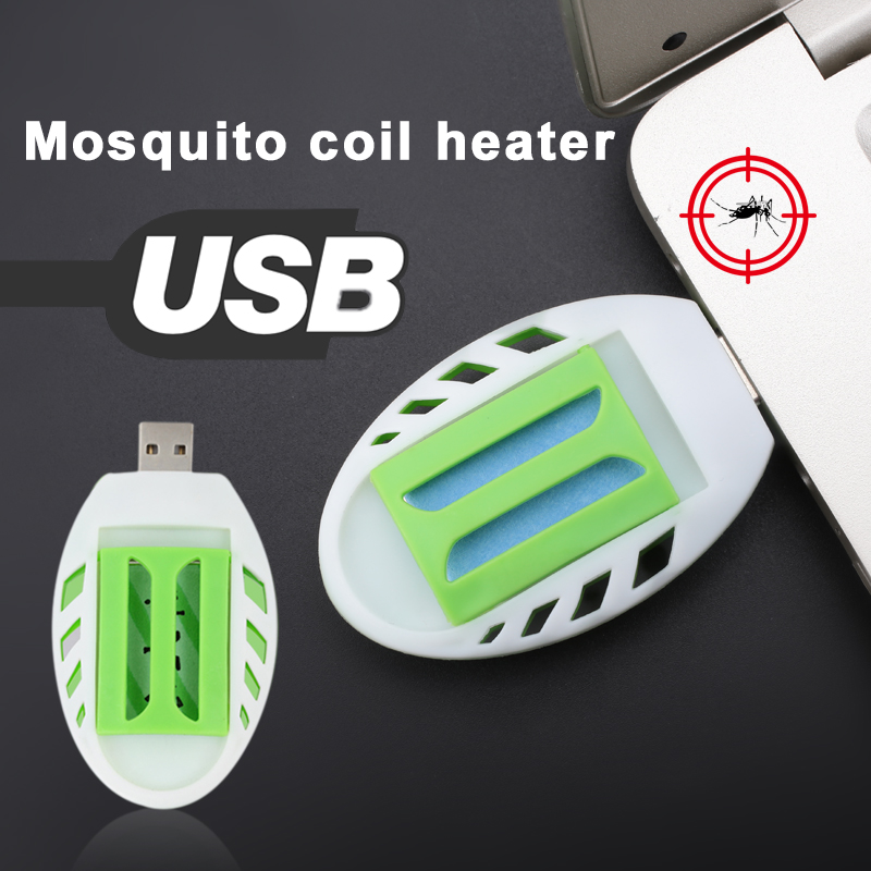 Portable Mosquito Killer Electric Mosquito Repeller Repellent Incense Heater USB Green+White Plastic Sleep Flies Repellent