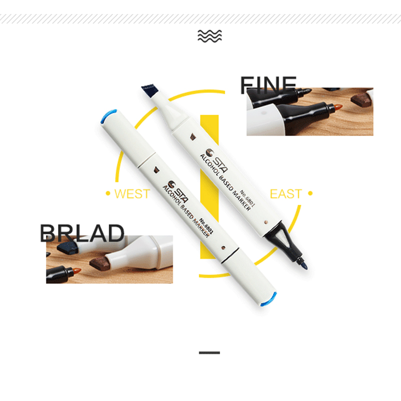 Marcadores da Arte esboço caneta marcadora canetas arte Function : Marker Pen For Drawing