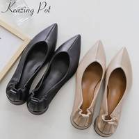 Mary Janes round low heels oxford pointed toe large size grandma shoes Hollywood movie stars natura leather elegant pumps L85